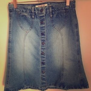 Abercrombie & Fitch A-Line Jean Skirt Size 2